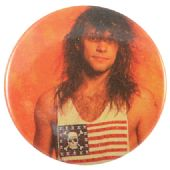 Bon Jovi - 'Jon Flag T.Shirt' Button Badge